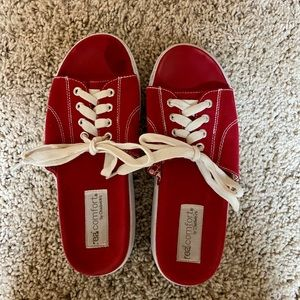 Real comfort red sandals women size 8 1/2